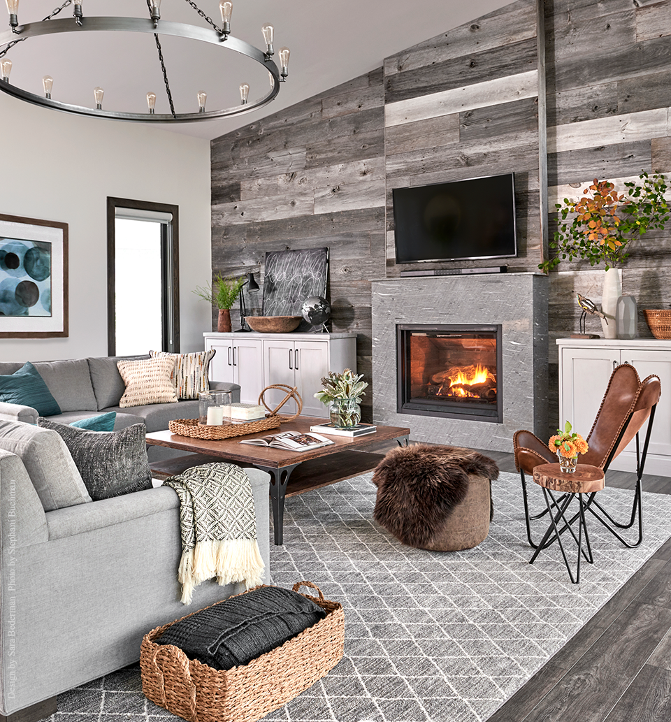 Lake House Living Room | Wall Planks | Pallet Wall